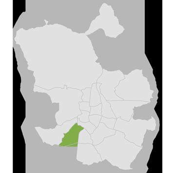 mapa del distrito de Carabanchel