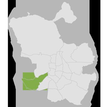Mapa distrito de Latina