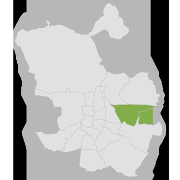 Mapa de Canillejas y San Blas
