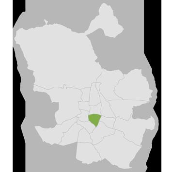 mapa del distrito de retiro en madrid